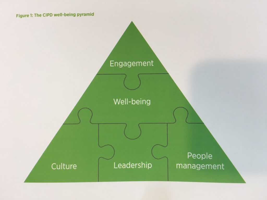CIPD well-being pyramid